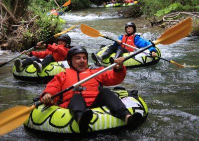 River Tubing di gruppo nel Pollino